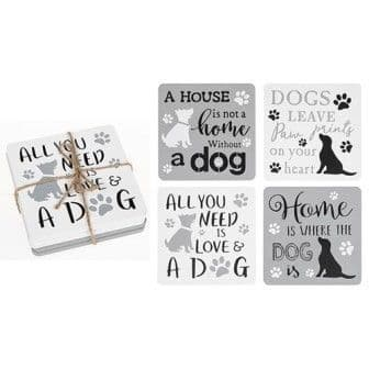 Dogs Life Set of 4 Coasters